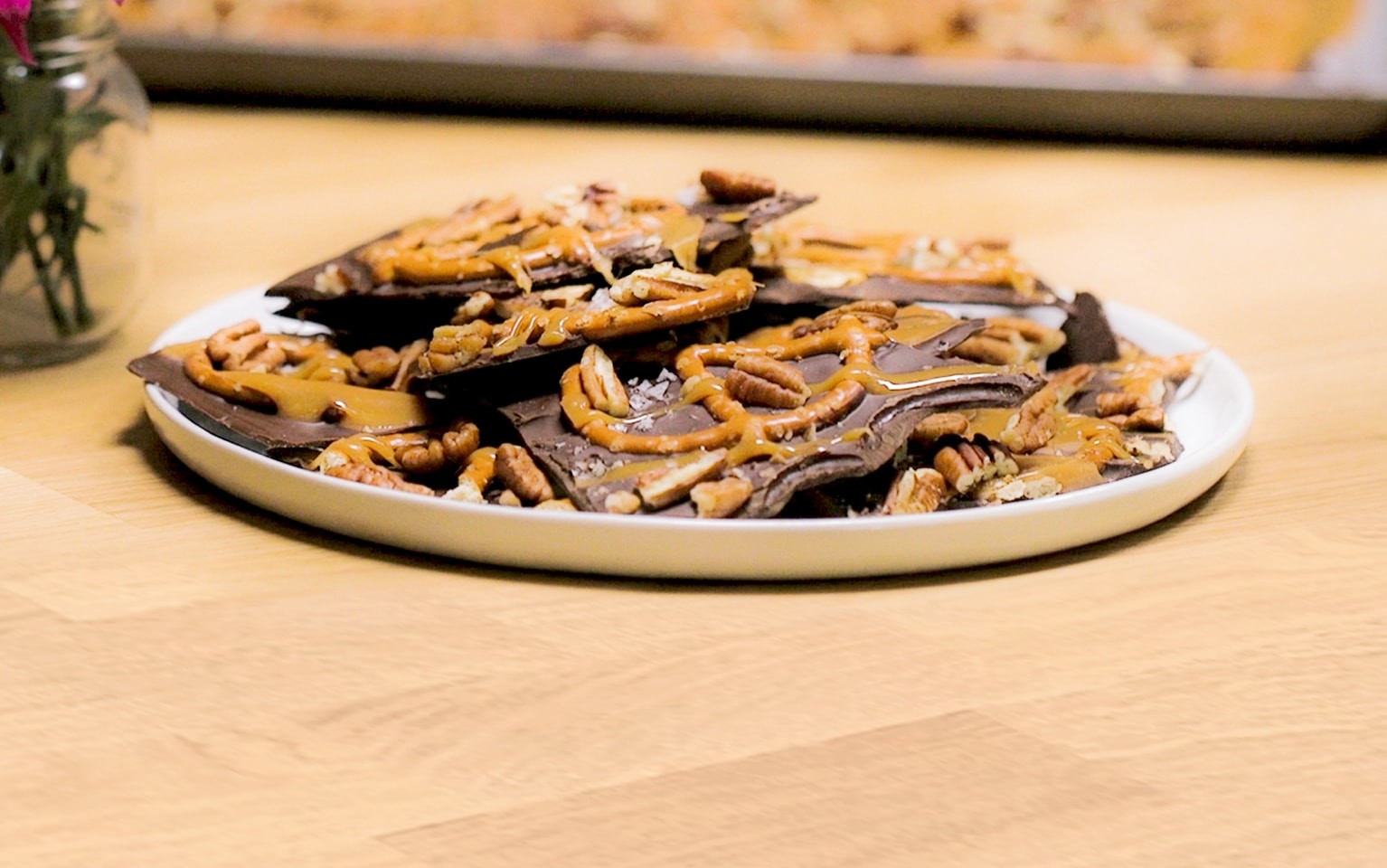 Caramel Chocolate Pretzel Bark